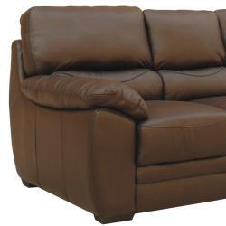Mesa Chocolate Italian Leather Sofa and Loveseat