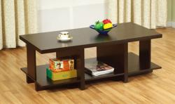 Furniture of America Coffee Bean Divided Coffee Table
