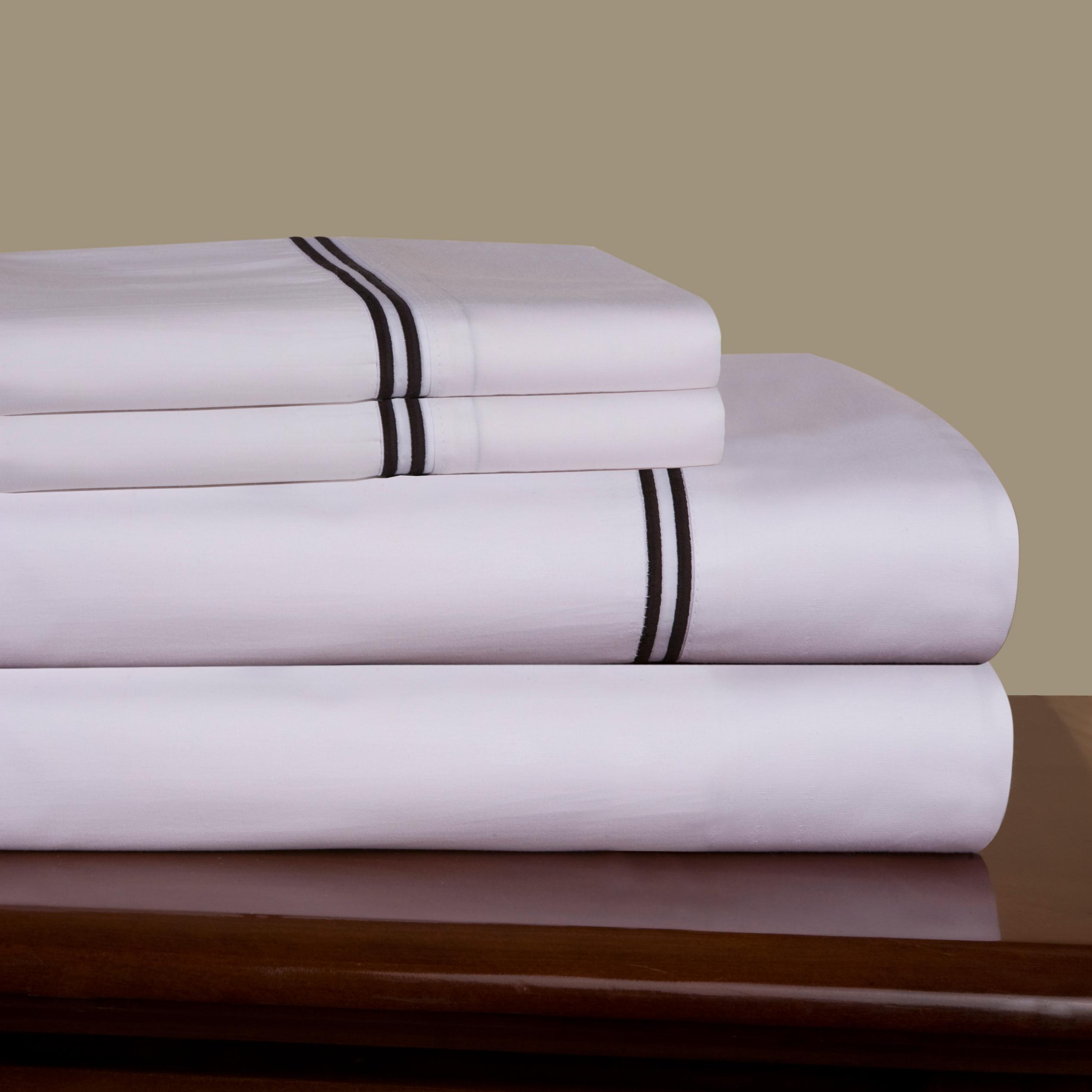 Embroidered Percale 300 Thread Count Combed Cotton Sheet Set Free Shipping Today 5483102
