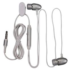 Silver Universal 3.5mm In-ear Stereo Headset with On Off and Mic - Thumbnail 1