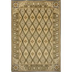 Hand-knotted Mandara New Zealand Wool Rug (6' x 9')