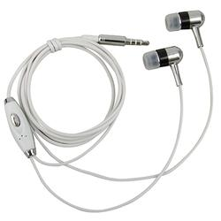 Silver Universal In-ear 3.5 mm Stereo Headset with On Off and Mic - Thumbnail 1