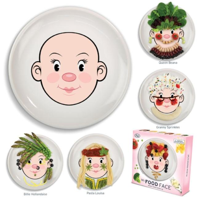 Fred & Friends Food Face Ceramic Lady Plate
