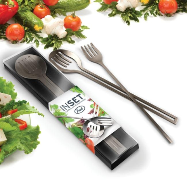 Inset Salad Server Tongs