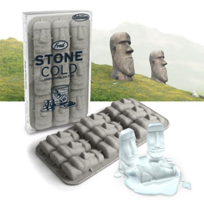 Moai Stone Cold Face Ice Cube Tray