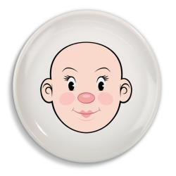 Fred & Friends Food Face Ceramic Lady Plate - Thumbnail 2