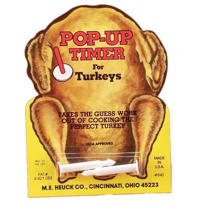 Pop Up 2-count Turkey Timer Set