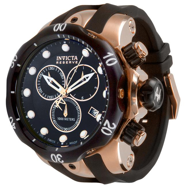 Invicta Men'S Reserve Chronograph Watch, Black, Size One ...