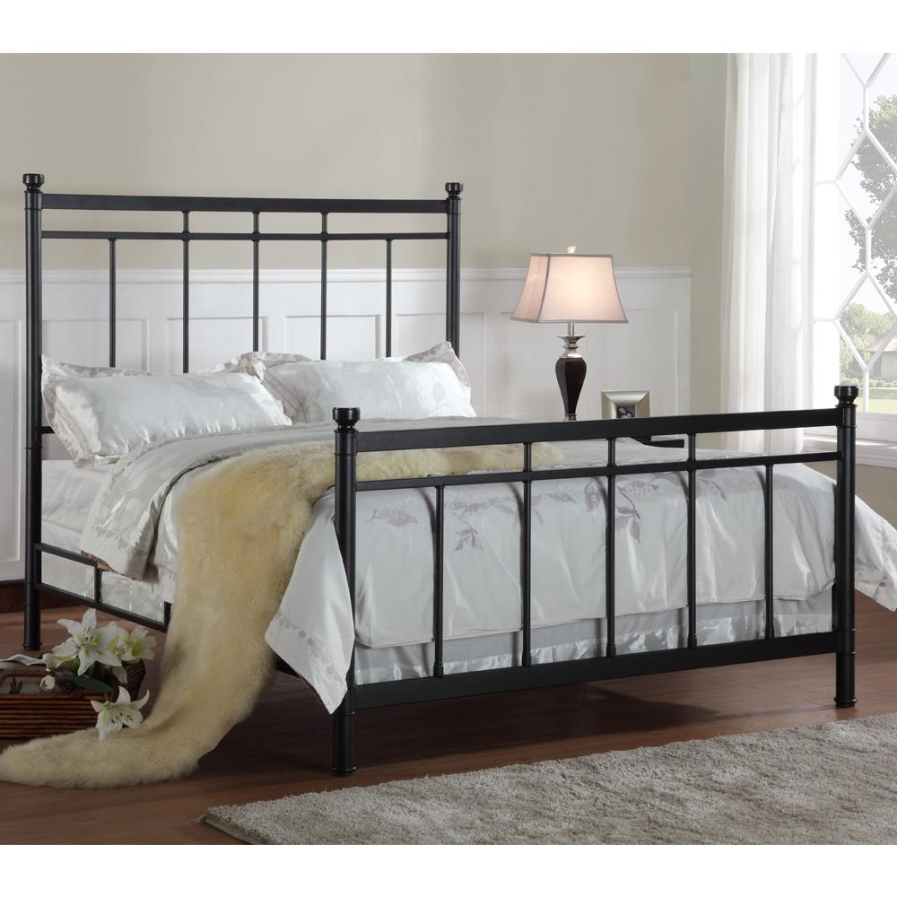 Claudia Full Size Cast Metal Bed Free Shipping Today