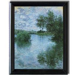 Claude Monet 'Vetheuil' Framed Canvas Art