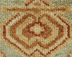 Hand-knotted Kenton Green Oriental Wool Rug (10' x 14')