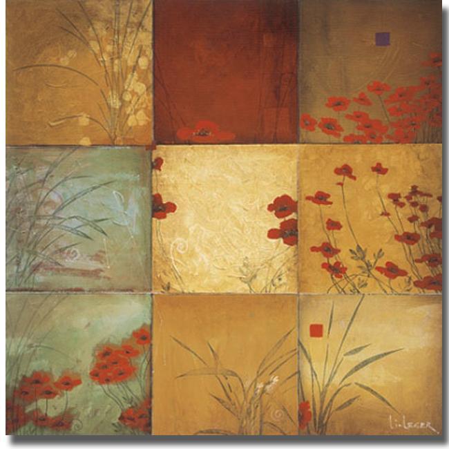 Don Li-Leger 'Poppy Nine Patch' Canvas Art