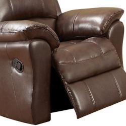 Carnegie Cocoa Italian Leather Reclining Sofa and Two Reclining Chairs