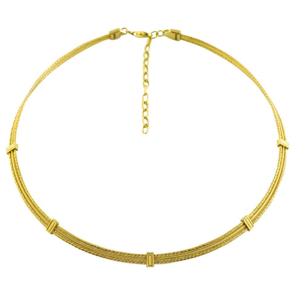 14k Yellow Gold Carnival Choker Necklace
