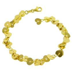 Goldkist 18k Yellow Gold over Silver Heart Confetti Bracelet