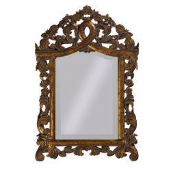 Gotham Gold Wood Mirror
