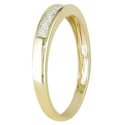 Miadora 14k Yellow Gold 1/4ct TDW Diamond Eternity Ring
