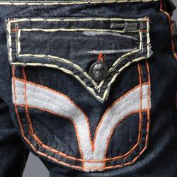 Laguna Beach Jean Company Men's 'Seal Beach' Embroidered Denim - Thumbnail 2
