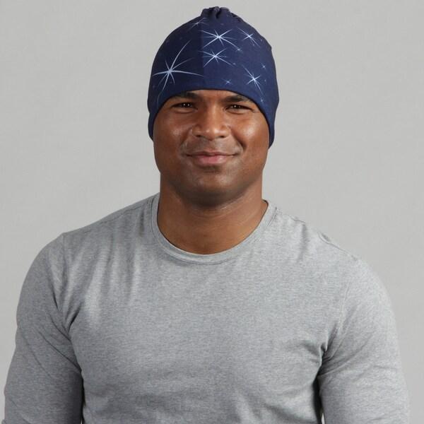O3 Adult Fleece Rag Tops Navy Stars Convertible Headwear