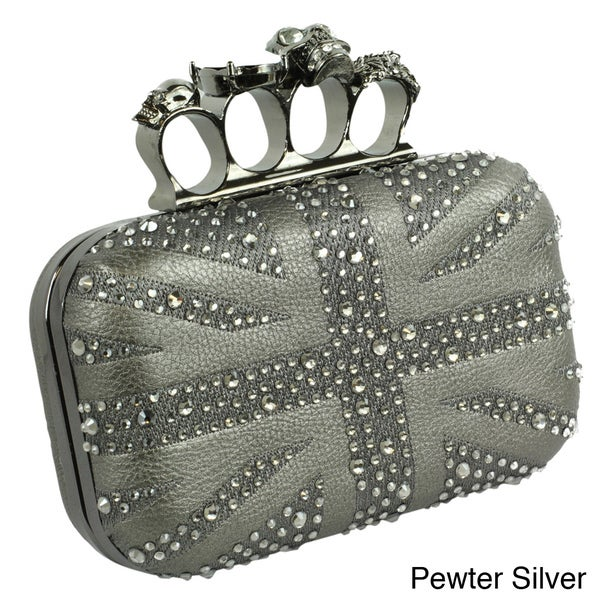 Trend Essentials Black Union Jack Knuckle Ring Clutch