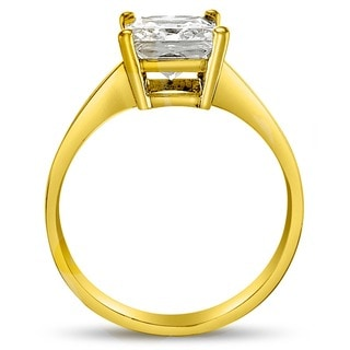 14k Yellow or White Gold 1ct TGW Princess-cut Cubic Zirconia Solitaire Ring