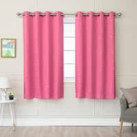 Aurora Home Star Struck Grommet Top 63-inch Thermal Insulated Blackout Curtain Panel Pair - 52 x 63