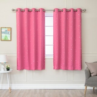 Aurora Home Star Struck Grommet Top 63-inch Thermal Insulated Blackout Curtain Panel Pair - 52 x 63 (2 options available)