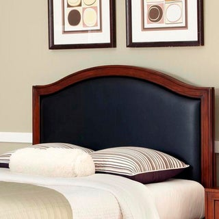 Home Styles Duet Queen Black Leather Inset Headboard