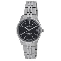 Laurens Italian Design Women's Stainless Steel Black Dial Watch