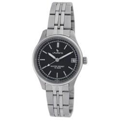 Laurens Italian Design Women's Stainless Steel Black Dial Watch