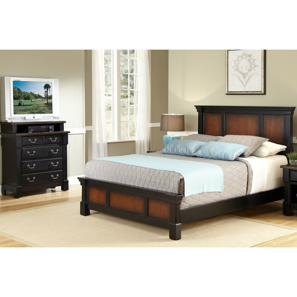 Queen-size Bed and Media Chest by Home Styles