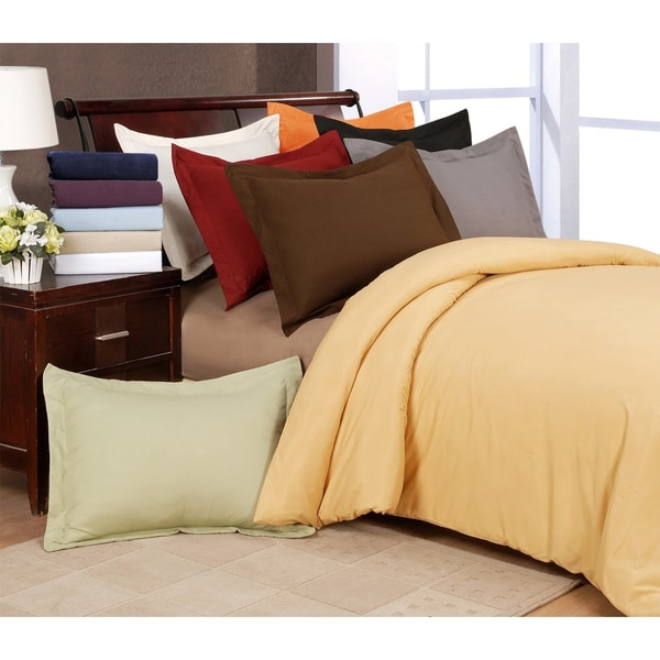 Superior Microfiber Solid 3-piece Duvet Cover Set