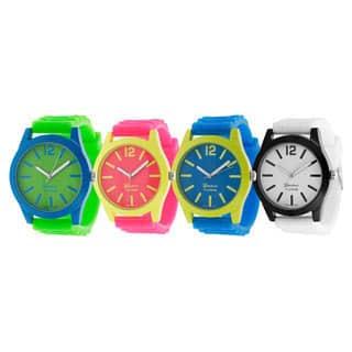 Geneva Platinum Women's Japanese Quartz Neon Pop Silicone Watch|https://ak1.ostkcdn.com/images/products/7210283/P14695211.jpg?impolicy=medium