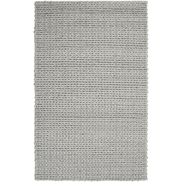 Hand-woven Albireo NaturalBraided Texture New Zealand Wool Rug (2' x 3')