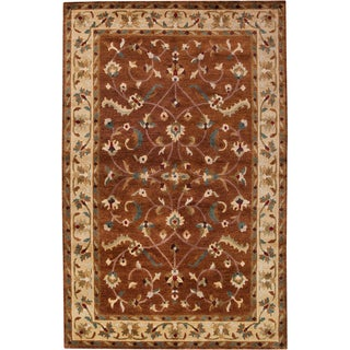 Hand-knotted Anastacia New Zealand Wool Area Rug - 2' x 3'