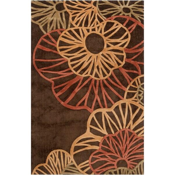 Hand-tufted Alrai Brown Rug (7'6 x 10'6)