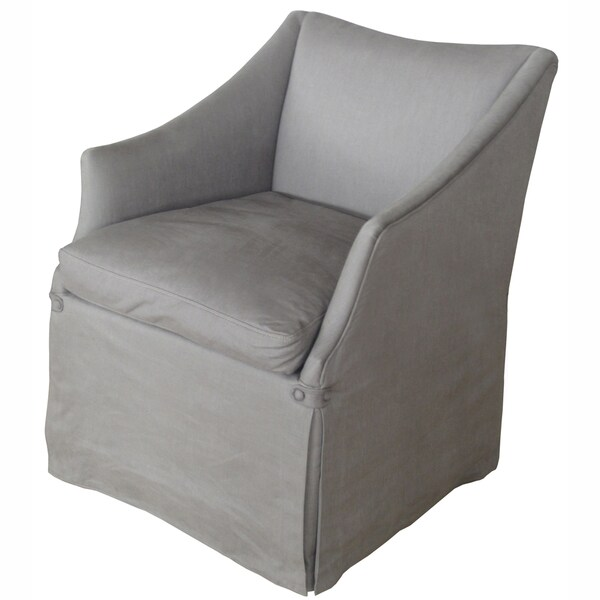 nuLOOM Hand-upholstered Linen Grey Club Chair