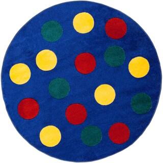 Chara Blue Rug (4'4 x 4'4)