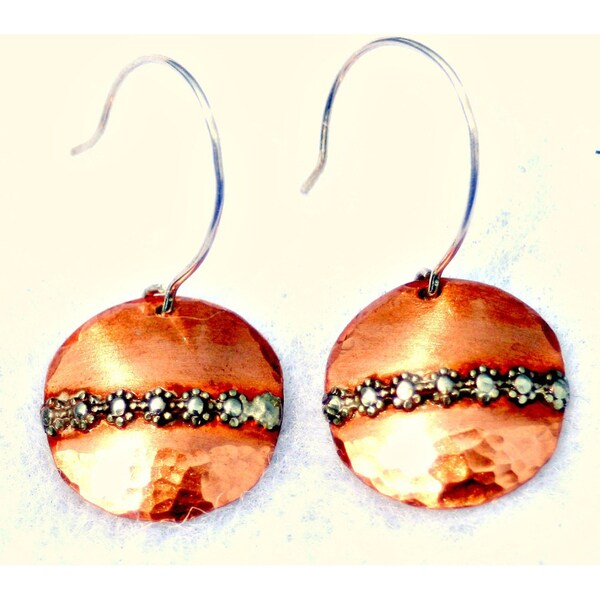 My Three Metals Copper and Daisy Earrings