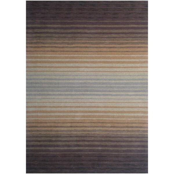 Loomed Hydrae Sunset Wool Rug (5' x 8')