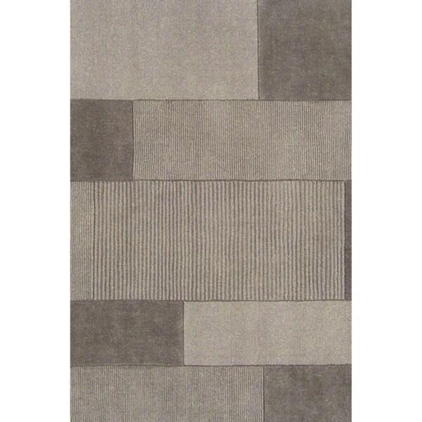 Loomed Duhr Light Gray Wool Rug (8' x 11')