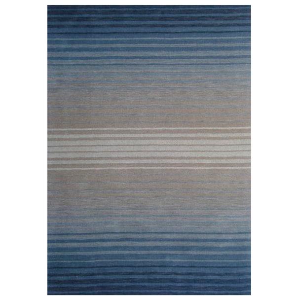 Loomed Coxa Blue Wool Rug (8' x 11')