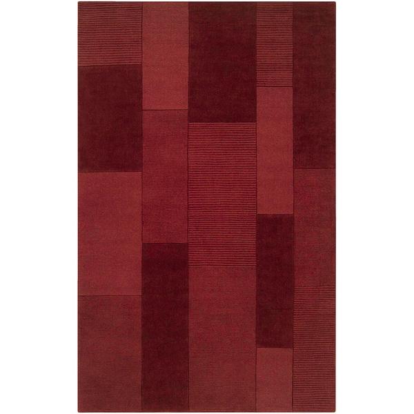 Loomed Elnath Red Wool Rug (5' x 8')