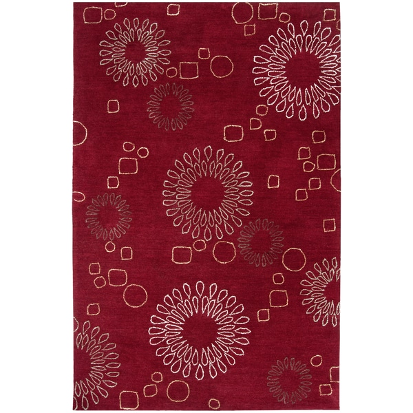 Hand-tufted Ameila Red Rug (2' x 3')