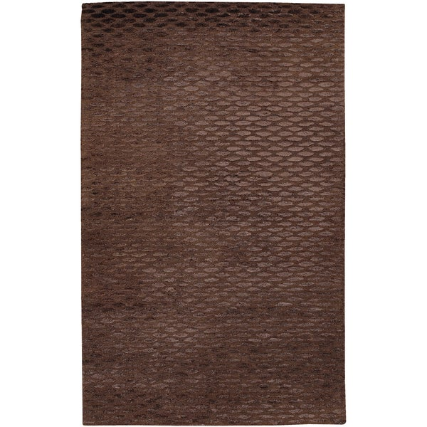 Hand-tufted Alhajoth Brown New Zealand Wool Rug (2' x 3')
