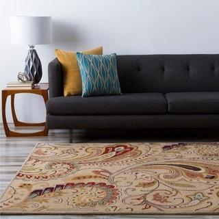 Hand-tufted Kaphra Ivory Wool Rug (2' x 3')