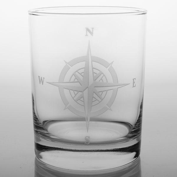 Rolf Glass Compass Rose DOF (Set of 4)