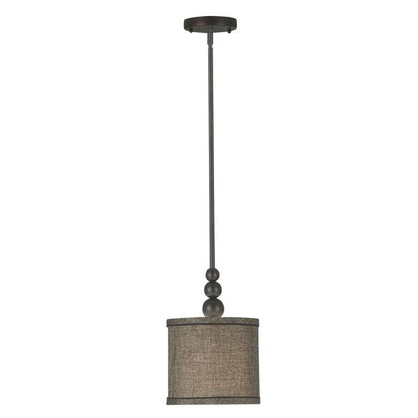 Design Craft Stewart Blackened Oil Rubbed Bronze 1-light Mini Pendant
