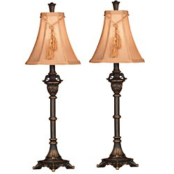 Design Craft Coolidge Metallic Bronze Buffet Lamp (Set of 2)