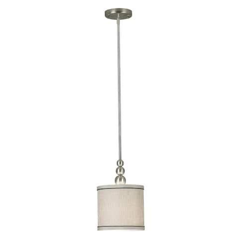 Strick & Bolton Mutu Brushed Steel 1-light Mini Pendant